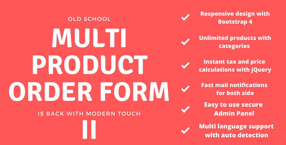 Multi Product Order Form 2